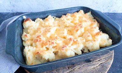Bloemkoolschotel met gehakt en aardappelpuree