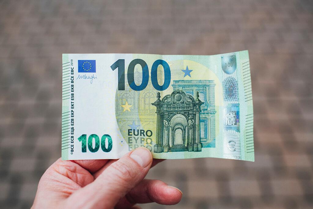 100 euro (= 10 vogels)