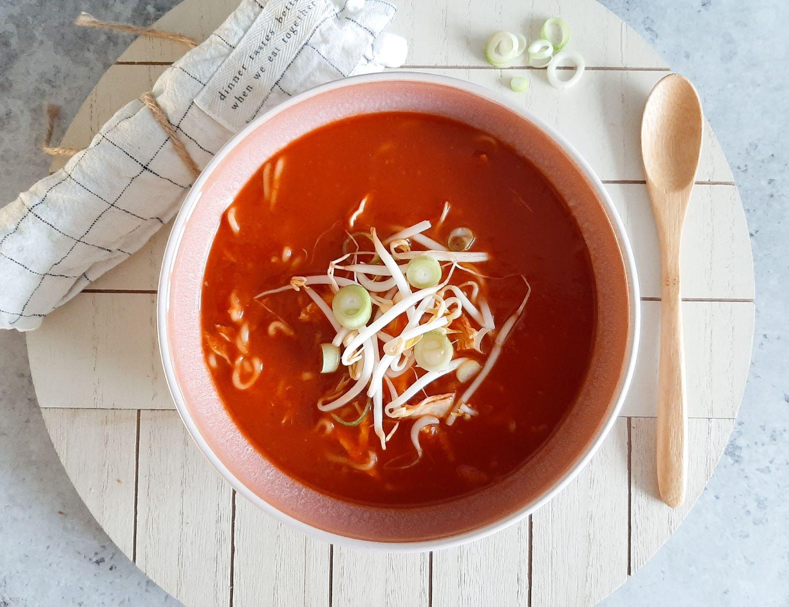 Chinese tomatensoep met kip
