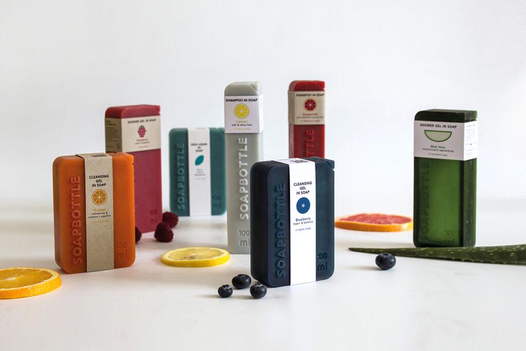 Verschillende verpakkingen van zeep
