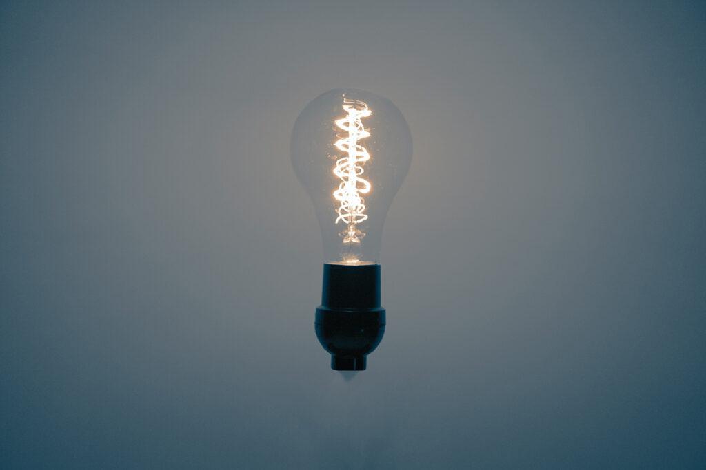 LED lamp met kooldraad