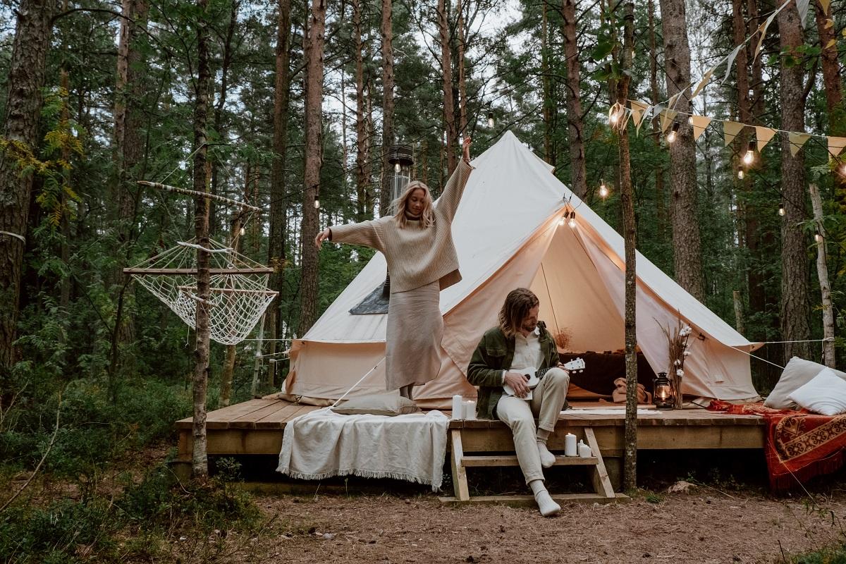Kamperen op een camping? Nee een glamping!